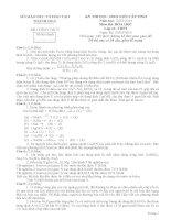 Đề thi học sinh giỏi và đáp án tiinhr Thanh hóa lớp 12 năm học 2014