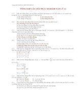 Tổng hợp câu hỏi trắc nghiệm vật lý lớp 12