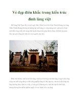 Vẻ đẹp điêu khắc trong kiến trúc đình làng việt pdf