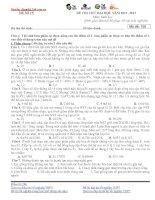 ĐỀ THI THỬ ĐẠI HỌC NĂM 2012 -2013 Môn: Sinh học Mã đề: 156 docx