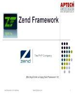Bài giảng - giáo án:  Cơ bản về Zend Framwork trong lập trình