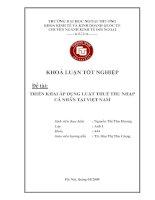 Đề tài : áp dụng  triển khai luật thuế thu nhập cá nhân tại việt nam