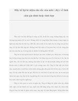 Hãy kể lại kỉ niệm sâu sắc của anh ( chị ) về tình cảm gia đình hoặc tình bạn pdf