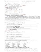 bài tập ôn thi hki tiếng anh lớp 7