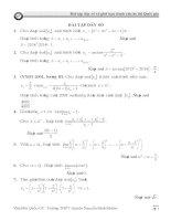 bài tập chuyên đề dãy số
