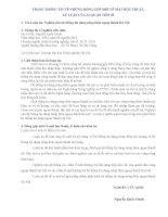 Thông tin luận án NGHIÊN CỨU HỆ THỐNG TÍN DỤNG NÔNG THÔN NGOẠI THÀNH HÀ NỘI