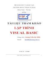 Giáo án - Bài giảng: LẬP TRÌNH VISUAL BASIC 6.0