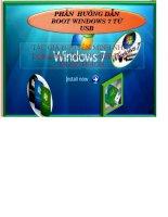 Giáo an Bài giảng: Công nghệ thông tin về hướng dẫn cài đặt windows 7 từ USB