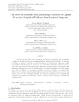 The effect of economic and accounting variables on capital structure empirical evidence from iranian companies