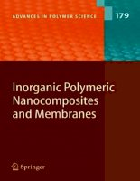 inorganic polymeric nanocomposites and membranes (advances in polymer science) (advances in polymer science)