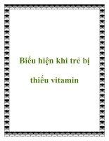 Biểu hiện khi trẻ bị thiếu vitamin pdf
