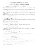 Phương trình lượng giác ôn thi đại học