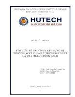 Đồ án tốt nghiệp : Tìm hiểu trình tự xây dựng kế hoạch HACCP tại công ty, đồng thời xây dựng kế hoạch HACCP cho sản phẩm cá Tra fillet đông lạnh