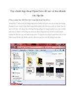 Tùy chỉnh hộp thoại Open/Save để mở và lưu nhanh các tập tin pdf