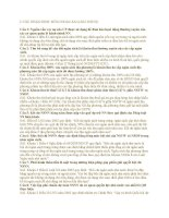 Bài tập Môn luật có lời giải chi tiết