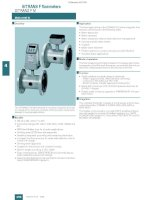 Cảm Biến lưu lượng MAG5100W flow sensor của Siemens