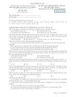 ĐỀ THI TUYỂN SINH ĐẠI HỌC NĂM 2013 MÔN HÓA HỌC KHỐI 1 - TRƯỜNG THPT CHUYÊN LÝ TỰ TRỌNG - MÃ ĐỀ THI 570 docx