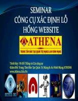 Luận văn: Các công cụ xác định lỗ hổng Website (hay)
