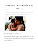 Cân nặng của trẻ khi chào đời có liên quan với bệnh tự kỷ ppt