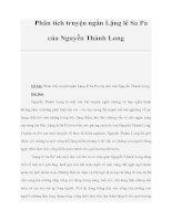 Phân tích truyện ngắn Lặng lẽ Sa Pa của Nguyễn Thành Long pdf