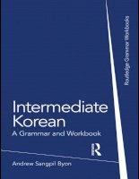 02 intermediate korean a grammar and workbook