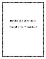 Hướng dẫn chèn video Youtube vào Word 2013 doc