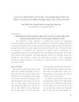 SẢN XUẤT PHÂN HỮU CƠ TỪ RÁC THẢI SINH HOẠT HỮU CƠ PHỤC VỤ SẢN XUẤT NÔNG NGHIỆP SẠCH TẠI VÙNG VEN ĐÔ potx
