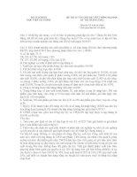 ĐỀ THI TUYỂN SINH HỆ LIÊN THÔNG ĐẠI HỌC KỲ THI THÁNG 5/2012 ppt
