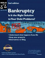 bankruptcy, is it the right solution to your debt problems 2nd (2004)