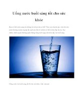 Uống nước buổi sáng tốt cho sức khỏe pptx