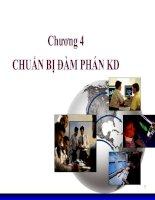 Chương 4: CHUẨN BỊ ĐÀM PHÁN KD doc