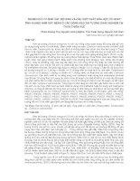 NGHIÊN CỨU VI SINH VẬT NỘI SINH VÀ CÁC HỢP CHẤT HÓA HỌC CÓ HOẠT TÍNH KHÁNG NẤM GÂY BỆNH Ở CÁC DÒNG KEO TAI TƯỢNG KHẢO NGHIỆM TẠI THỪA THIÊN HUẾ pdf