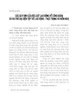 Tài liệu môn luật Công Đoàn - Các qui định của bộ luật lao động về công đoàn và vai trò đại diện tập thể lao động Thực trạng Kiến nghị