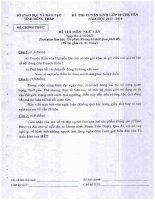Kỳ thi tuyển sinh lớp 10 chuyên Ngữ văn (2013-2014) - GD&ĐT Đồng Tháp - Kèm Đ.án Chia sẻ: nhuloan1989 | Ngày: 16-04-2014