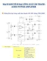 mạch khuếch đại công suất âm thanh - audio power amplifier