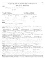 Khảo sát kiến thức hóa học 11 (cuối năm)