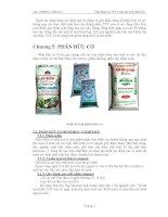 ứng dụng vi sinh vật trong sản xuất phân bón