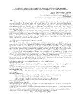 NGHIÊN CỨU ẢNH HƯỞNG CỦA MỘT SỐ BIỆN PHÁP KỸ THUẬT LÂM SINH ĐẾN SINH TRƯỞNG CỦA RỪNG TRỒNG KEO LAI CUNG CẤP GỖ XẺ Ở VÙNG ĐÔNG NAM BỘ doc