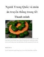 Người Trung Quốc và món ăn truyền thống trong tết Thanh minh docx