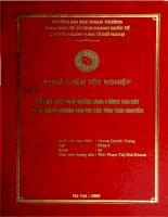 Một số biện pháp nhằm tăng cường thu hút và sử dụng nguồn vốn FDI của tỉnh Thái Nguyên