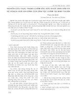NGHIÊN CỨU THỰC TRẠNG CHĂM SỨC SỨC KHOẺ SINH SẢN VÀ KẾ HOẠCH HOÁ GIA SẢNH CỦA DÂN TỘC CHĂM TẠI NINH THUẬN pot