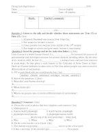 Các bài kiểm tra Tiếng Anh nâng cao