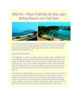 Mũi Né - Phan Thiết thủ đô Khu nghỉ dưỡng Resort của Việt Nam pdf