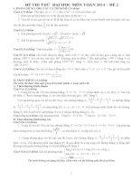 đề thi thử  đại học môn toán 2014 – đề 2