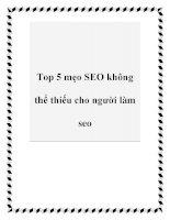 Top 5 mẹo SEO không thể thiếu cho người làm seo pdf