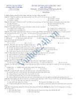 Trường THPT Trần Phú - ĐỀ THI THỬ ĐH LẦN 2 NĂM 2012 - 2013 Môn: SINH HỌC docx