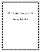 12 'bí kíp' đơn giản để trang trí nhà ppt