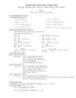 Tài liệu ôn thi vào lớp 10 môn toán trung học phổ thông cực hay