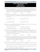 Đề thi thử vật lý hay và khó