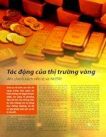 phân tích tác động của thị trường vàng đến chính sách tiền tệ và ngân hàng trung ương
